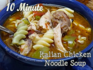 10 Minute Italian Chicken Noodle Soup