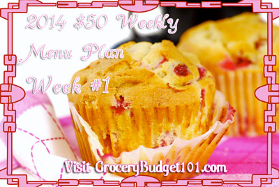 2014 $50 Budget Menu Plan Week #1
