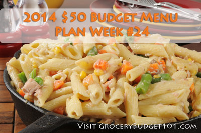 2014 $50 Budget Menu Plan Week #24