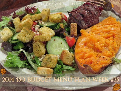 2014 $50 Budget Menu Plan Week #35