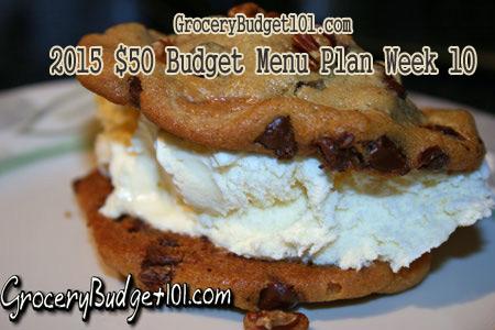 2015 $50 Budget Menu Plan Week 10