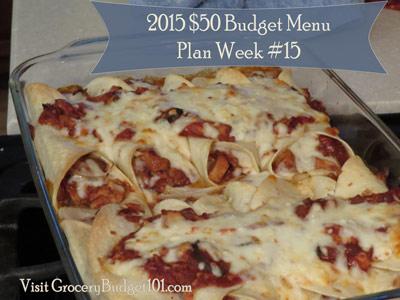 2015 $50 Weekly Budget Menu Plan Week #15
