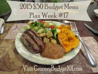 2015 $50 Weekly Budget Menu Plan Week #17