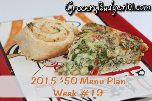 2015 $50 Weekly Budget Menu Plan Week #19
