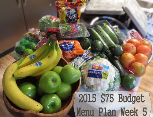 2015 $75 Budget Menu Plan Week 5