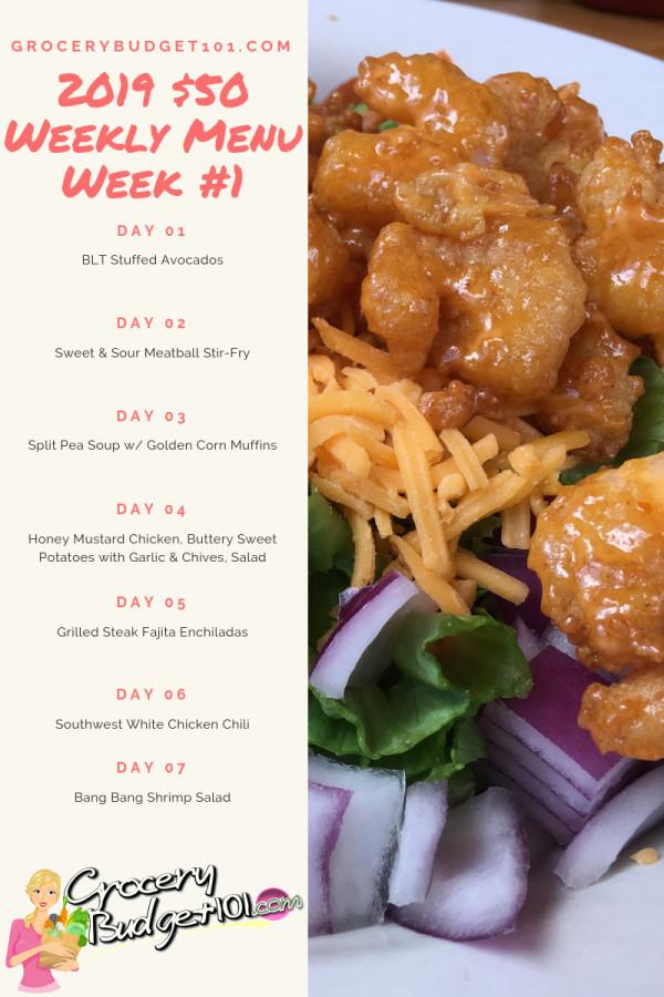 2019-week-1-50-weekly-menu-plan
