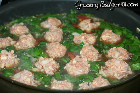 hearty-meatball-spinach-stew