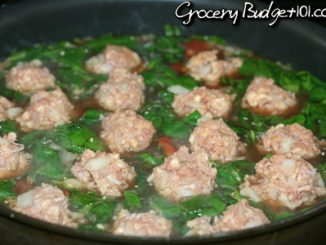 Hearty Meatball Spinach Stew