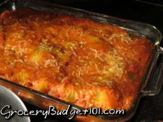 Sausage and Eggplant-Stuffed Shells in a Tomato-Basil Cream Sauce