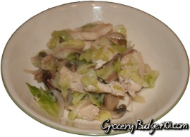 Amazing Cabbage Chicken Saute