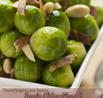 Apple Cider Glazed Bacon Brussels Sprouts