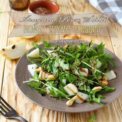 arugula-pear-salad-with-honey-thyme-dressing