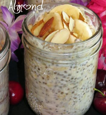 Banana Almond Refrigerator Oatmeal