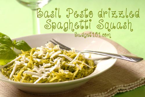 Basil Pesto Spaghetti Squash