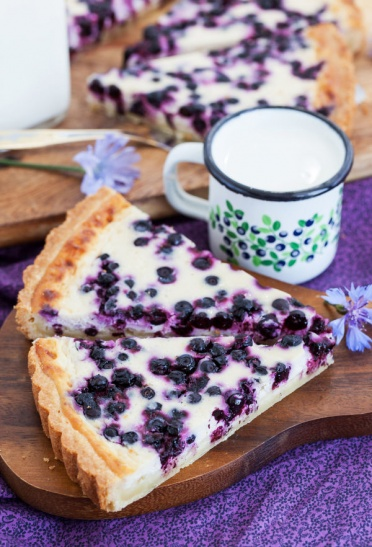 blueberry-ricotta-tart