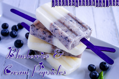 Blueberry Vanilla Coconut Cream Popsicles