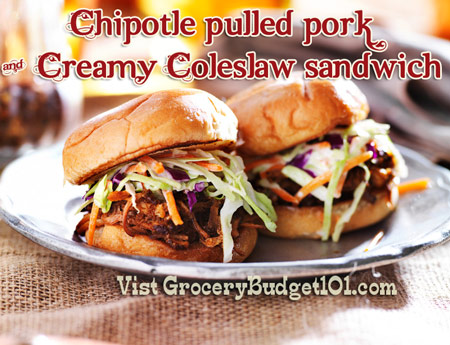 Chipotle Pulled Pork & Creamy Coleslaw Sandwiches