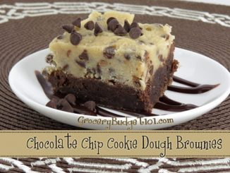 chocolate chip cookie dough brownies attachment