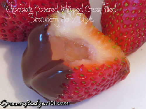 chocolate-covered-whipped-cream-filled-strawberry-jello-shots