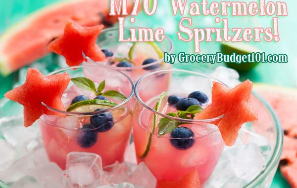 Cooling Watermelon Lime Spritzers