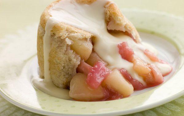 Custard Kissed Apple Rhubarb Charlotte