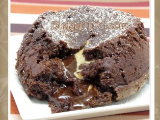 double chocolate peanut butter lava cake attachment