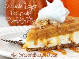 double layer no bake pumpkin pie attachment