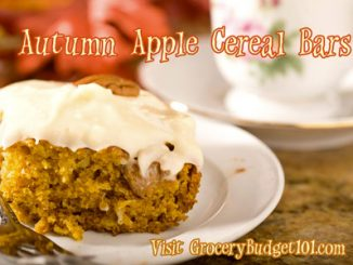 Easy Autumn Apple Cereal Bars