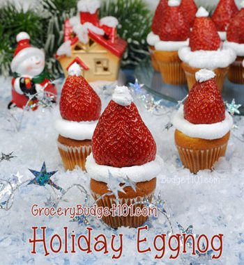 Holiday Eggnog Muffin Bites