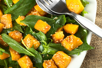 honey-roasted-pumpkin-spinach-salad