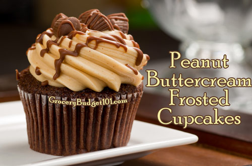 Peanut Buttercream Frosted Cupcakes