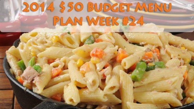Week #24 $50 Weekly Menu for 4-6 ppl