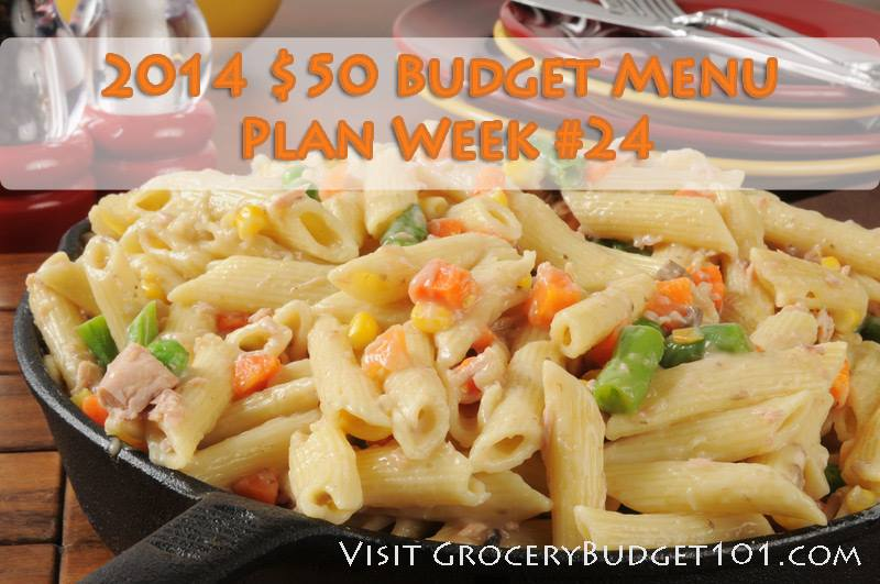 $50 Weekly Menu Plan Week 24